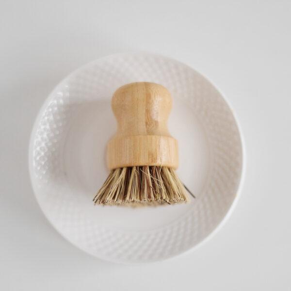 Perie pentru vase din bambus si cocos